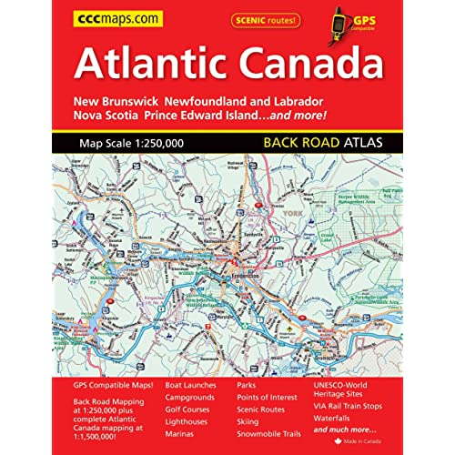 Complete Map Of Canada.Map Of Nova Scotia Amazon Com