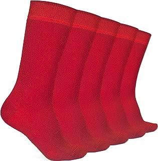 Hugh Ugoli Kids School Crew Socks Bamboo Comfort Seam Toe 5 Pairs
