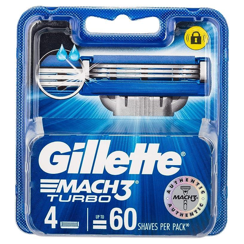化合物技術的なそこジレット マッハスリーターボ 替刃4個入