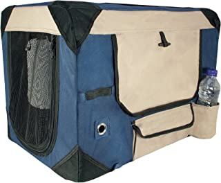 Dogit Deluxe Soft Crate for Pets with Storage Case, Great for Travel & Training, XX-Large, Blue