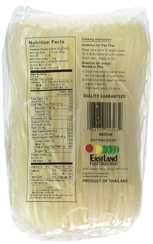 Amazon Com Asian Best Premium Rice Stick Noodle Medium 16oz 3 Pack Grocery Gourmet Food