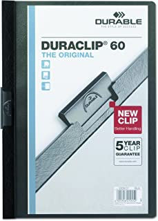 DBL2214BE - Durable Vinyl DuraClip Report Cover w/Clip