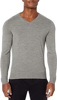 Peak Velocity Amazon Brand Men's V-Neck Merino Wool Thermolite Sweater