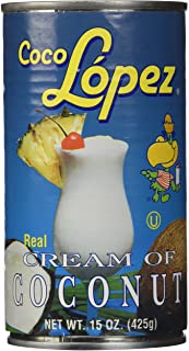 Coco Lopez - Real Cream of Coconut - 15 Ounce Can - Original Fresh Authentic Coconut Cream (6 Pack)