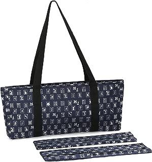 Navy Blue & Silver Designer Mah Jongg Set Soft Carrying Case (Case Only)