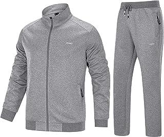 Men's Tracksuit 2 Piece Athletic Full Zip Jogging Running Sweatsuit