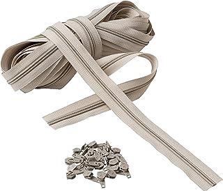 IPEA Fermeture éclair Lampo Taille 5 # Chaîne continue - 10 mètres - Corde en nylon + 25 curseurs inclus - Zip - Coupe-cou...