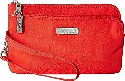 RFID Double Zip Wristlet