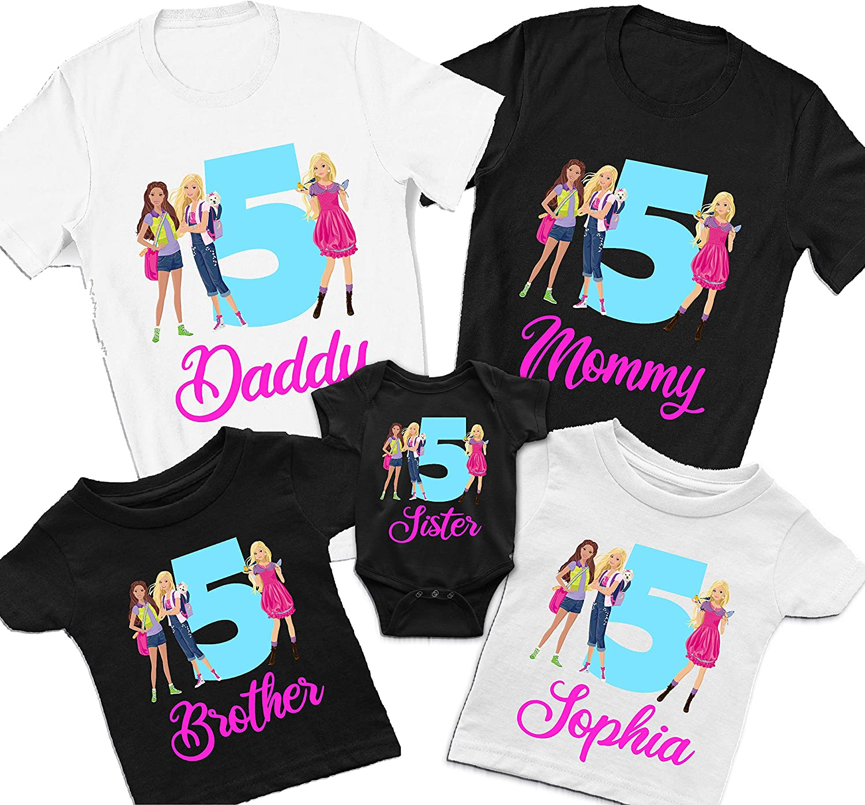 Cake T-Shirt2 3 4 5 6 7 8 9 10 11 12 13 Years Birthday Girl Personalised