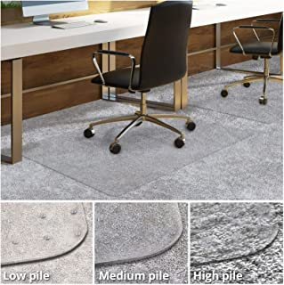 Office Chair Mat for Carpeted Floors | Desk Chair Mat for Carpet | Clear PVC Mat in Different Thicknesses and Sizes for Every Pile Type | Medium-Pile 30
