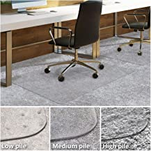 Office Chair Mat for Carpeted Floors   Desk Chair Mat for Carpet   Clear PVC Mat in Different Thicknesses and Sizes for Every Pile Type   Medium-Pile 36
