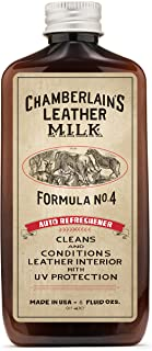 Leather Milk Auto Leather Conditioner and Cleaner with UV Protection - Auto Refreshener No. 4 - All Natural, Non-Toxic Protection for Car Interiors. Made in USA. 2 Sizes. Includes Conditioning Pad