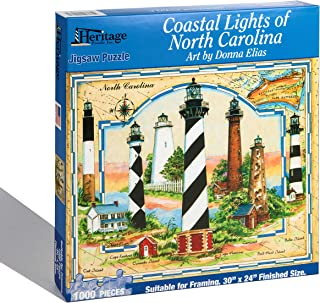 Heritage Coastal Lights of North Carolina Jigsaw Puzzle - 1000 Pieces