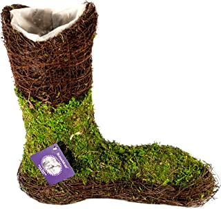 SuperMoss (55572) Moss UGG Boot Planter, Fresh Green