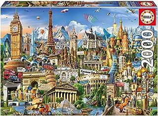 Educa Borrás- Puzzle 2000 Símbolos de Europa, (17697)