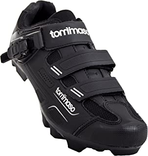 Montagna 200 Men's Mountain Bike MTB Spin Cycling Shoe with Buckle Compatible with SPD Cleats Black