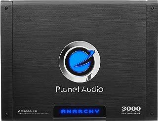Planet Audio AC3000.1D Class D Car Amplifier - 3000 Watts, 1 Ohm Stable, Digital, Monoblock, Mosfet Power Supply