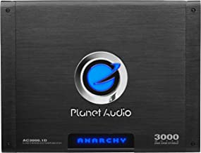 Planet Audio AC3000.1D Class D Car Amplifier – 3000 Watts, 1 Ohm Stable, Digital,..