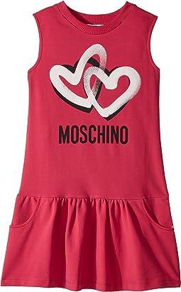 Moschino Kids - Sleeveless Heart Logo Graphic Dress (Big Kids)