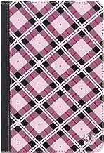 VanGoddy Slim Pink Plaid Portfolio Case Suitable for Vankyo MatrixPad Z1 7-inch, Fusion5 7