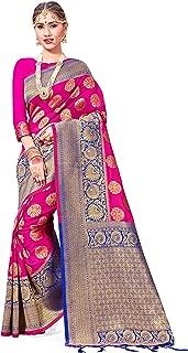 Sarees Women Banarasi Art Silk Woven Saree l Indian Wedding Traditional Wear Sari