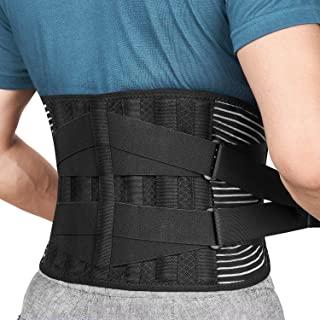 Cinturón Lumbar Soporte Lumbar para la Espalda Ayuda de la Cintura para Aliviar El Dolor de Espalda y Prevenir Daños, Unisex Negr