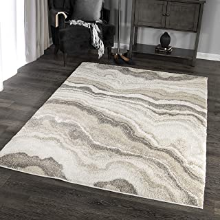 Orian Rugs Super Shag Collection 392548 Cascade Area Rug, 9' x 13', Ivory