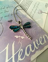 Smiling Wisdom - Heaven Dragonfly Story Greeting Card Gift Set - Abalone Dragonfly Necklace - Loss, Grief, Bereavement or Simple Explanation of Heaven and Earth - Child, Tween, Teen,Girl, Women