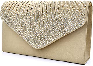 Silver Evening Bag With Rhinestones