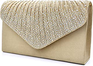 Women Evening Envelope Handbag Party Bridal Clutch Purse Shoulder Cross Body Bag