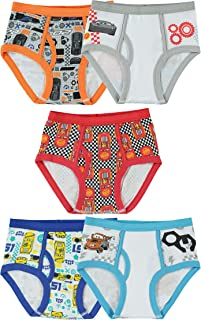 Little Boys' Cars 5-Pack Brief, Colors and Prints may Vary