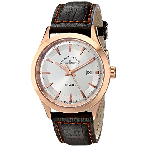 Zeno Mens 6662-515QPGR-F3 Vintage Line Analog Display Quartz Brown Watch