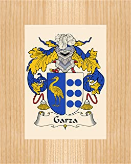 Carpe Diem Designs Garza Coat of Arms/Garza Family Crest 8X10 Photo Plaque, Personalized Gift, Wedding Gift