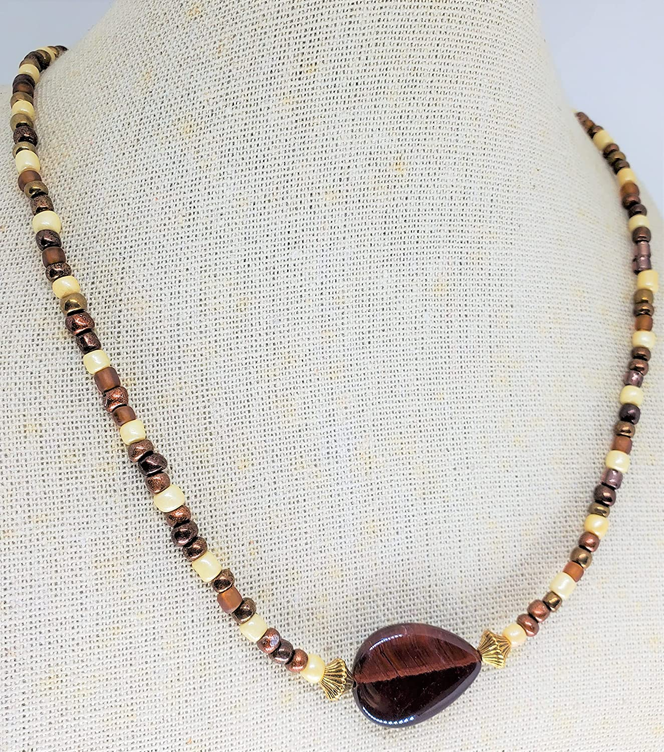 Tiger's eye necklace Jacksonville Mail order Mall