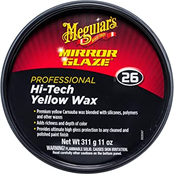MEGUIAR'S M2611 Mirror Glaze Hi-Tech Yellow Wax, 11 Ounce Paste: image