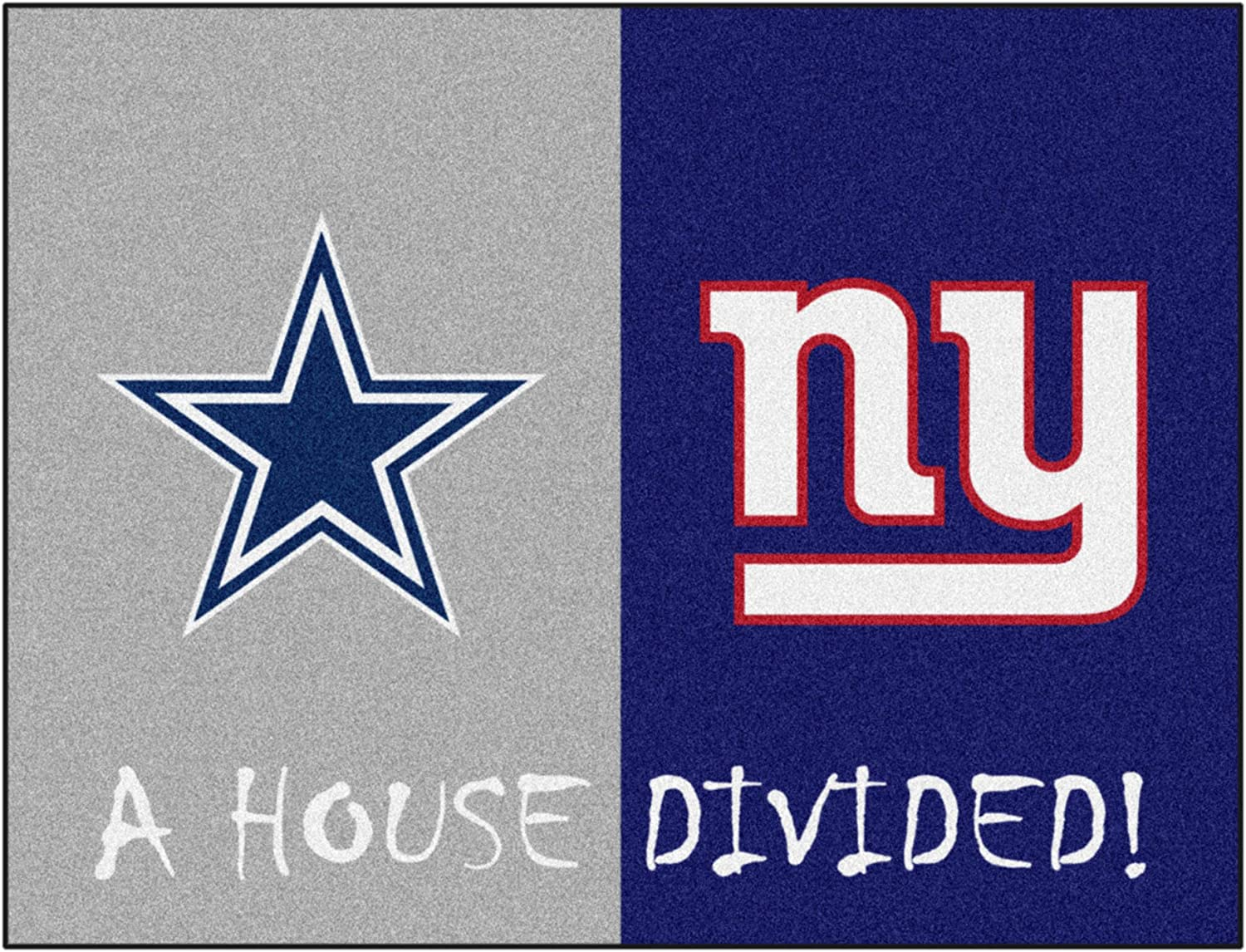 Fanmats Nfl House Divided Nylon Face House Divided Rug Sports Fan Area Rugs Sports Outdoors