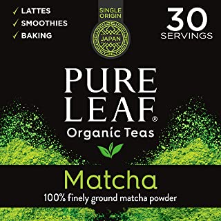 Pure Leaf 100% Organic Matcha Green Tea Powder for Green Tea Matcha Latte, Matcha baking recipes, Green Tea Smoothies Matcha Powder 30g Trial Size, 1.5 oz