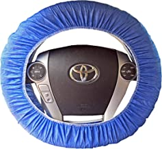 C2D2.com Automobile Steering Wheel Cover - One Size Fits Most, Reusable, Disposable - 5 per Package