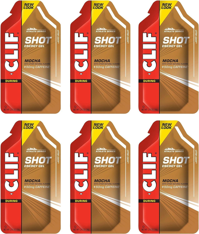 Clif Shot Manufacturer direct delivery Gel - Mocha Packs 1.2oz 6 Max 53% OFF x Pack