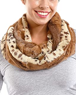Apparelism Women's Winter Super Soft Fuzzy Infinity Loop Neck Warmer Scarf.