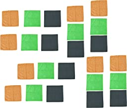 MotRoX Orange,Green & Grey Microfiber Clothes for Indoor and Outdoor Used - 300 GSM (30 x 40 cm, Pack of 24)