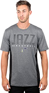 Ultra Game Adult Men T Athletic Quick Dry Active Tee Shirt, Heather Charcoal 18, Large