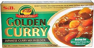 S & B Golden Curry medio caliente (sin carne se incluye