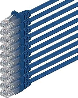 0,5m - bleu - 10 pièces - CAT6 Câble Ethernet Set - Câble Réseau RJ45 | 10 / 100 / 1000 Mo/s | câble de Patch | LAN Câble...