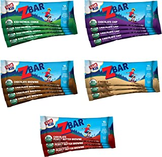 CLIF KID ZBAR - Organic Energy Bars - Variety Pack - (1.27 Ounce Energy Bars, Lunch Box Snacks, 18 Count)
