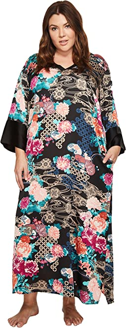 N by Natori - Plus Size Dreamy Floral Caftan
