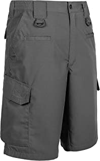 LA Police Gear Men Elastic Waistband 8 Pocket Operator Tactical Shorts