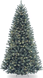 National Tree 7.5 Foot North Valley Blue Spruce Tree with 700 Clear Lights, Hinged (NRVB7-306-75)