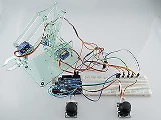 [Sintron] Mini Industrial Robotic Arm Kit, Mechanic Arm & DIY Robot Toy + Servos Joysticks UNO R3 Laser Cut Components for Arduino Education Starter