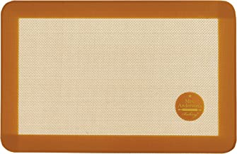 Mrs. Anderson's Baking Mrs. Anderson's Non-Stick Silicone Jelly Roll Baking Mat, 9.5-Inch x 14.375-Inch, Brown
